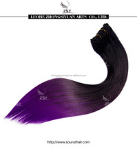 ZSY hot sale wholesale clip in hair extensions