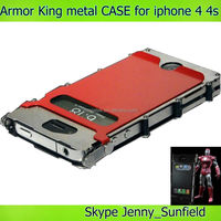 Mobile phone case Armor king metal shockproof case for iphone 4 4s, for iphone 4 case metal ,for iphone case 4s 5s 6 metal