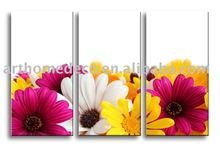 group flower canvas painting