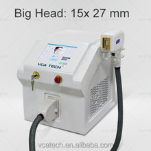 2015 hot sell! vca laser diode laser permanent hair removal, big spot 15*27