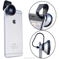 Universal clip 0.4x super wide angle lens,cell phone 0.4x clip lens mobile phone camera lens for iPhone 6s iPhone 6s+ iPad pro