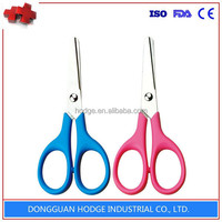 Keenness hair cutting scissors with plastic handle sutudent scissors