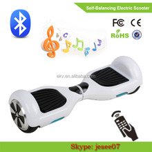 New! Free shipping by Fedex or UPS!10 inch Two Wheels Bluetooth Electric Scooter with Remote key+LED bluetooth speaker+Carry bag
