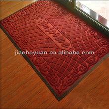 Rubber backed Welcome door mats