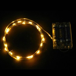 Timer Controlled Battery Led String Single Battery Powered Light