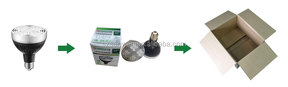 Competitive price E27 par30 LED light, led par30 35W E27 85-265v, par 30 e27 led bulb 35 watt 2800 lumens