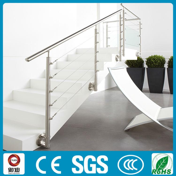 lowes precio pared moutend extrable cable de acero inoxidable barandillas para escaleras