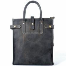 2015 unisex tote shoulder handbag men vintage leather bags