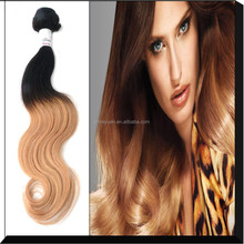 Remy human hair weft color1b 27, cheap virgin remy ombre hair,two tone hair color ring color chart
