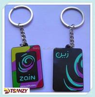 Cheap 3D cookie keychain ,pvc keytag