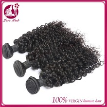 Ali express raw virgin unprocessed brazilian jerry curl weave extensions top quality human hair