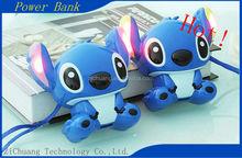 Low Price Hot Warranty 1 year 13000mah Cartoon mini cute OEM ODM newest fashion Disney's Lilo & Stitch Power Bank