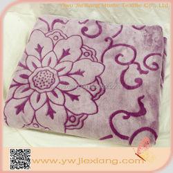 High quality new design super soft fleece embossing flannel blanket