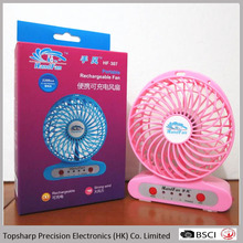 Electrical Appliances Table Portable 4 Inch Mini hand rechargeable usb Led Fan