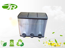 kitchen use 3 compartment recycle bin garbage can