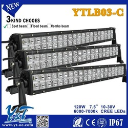 Y&T 2015 offroad bar 7.5inch 2 row Off road CE RoHS IP67 led light bar