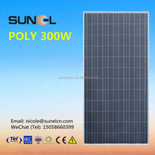 price solar panel 300w for 10KW power system
