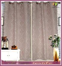 Shaoxing Keqiao Linen Geometric Pattern Window Curtain For Living Room