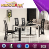 beautiful dining room furniture of black tempered glass table