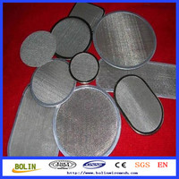 Proffessional ManufaCturer 0.5 Micron Stainless Steel Metal Fabric Mesh Filter / Water Filter Disc (free sample)