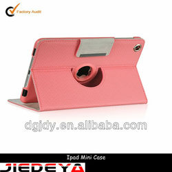 Pink PU belt clip case for ipad mini.
