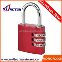 30mm 3 digital aluminium padlock