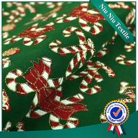 Textile fabric supplier New style Beautiful Xmas printed christmas taffeta
