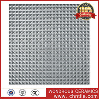 China Foshan 600x600mm non slip bathroom silvery color metal surface rustic ceramic floor tile