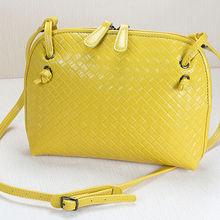 hand bag organizer korea handbags wholesale real leather shoulder bag weave leather small bag GL318
