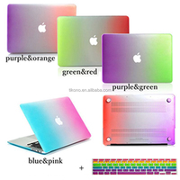 Cute Rubberized Matte Hard Case + Keyboard Cover For Macbook Air 11 13 Pro 13 15