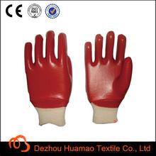 acid proof PVC gloves +cotton interlock coated +safety production