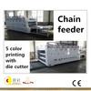 flexo printer slotter die-cutter stacker machine, corrugated pizza box making machine