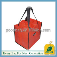 logo printing non woven wine bottle air bag with spout tap