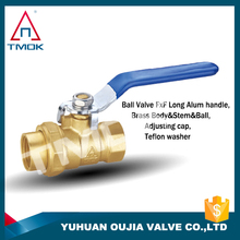 brass ball valve china polishing manual power control valve plating pipe fitting brass lockable in TMOK