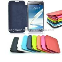 PU Leather Flip Hard Case Cover For Samsung Galaxy Note 2 II N7100