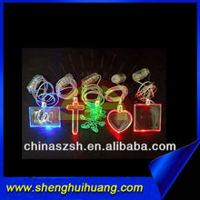 newest design LED glowing necklace with colorful light