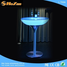 Supply all kinds of eating LED table,pvc transparent LED table protector
