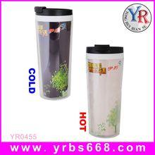 Factory custom eco friendly coffee travel mug color chane mugs