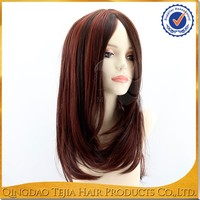 Factory wholesale price middle parting 100 human hair lace front wigs without bangs
