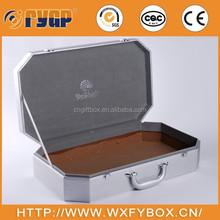 customized PU leather aluminum travel jewelry case,cardboard forming,insert velvet