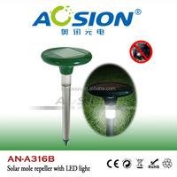 Patent solar ultrasonic groundhog repeller