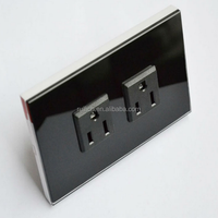US Standard Crystal Glass Panel Wall Socket , 10A Electric Power Points