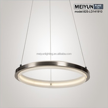 Zhongshan Led acrylic ring light acrylic chandelier lamp for home wedding decoration