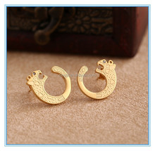 2015 hot sale stainless steel Individuality Leopard animal set jewelry
