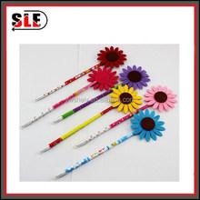 2015 hot sale high quality sunflower hair felt ball pen