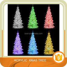 Christmas Tree Ice Crystal Colorful Changing LED Desk Decor/Table Lamp Light