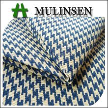 Mulinsen Textile Houndstooth Design Woven Garment Material Twill T/C 65/35 Fabric