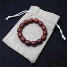 Fashion linen gift pouch for accessories,designer linen pouch