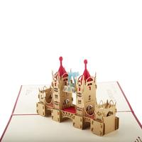 Red London Bridge Handmade Laser Cutting Card Bulk 3D pop up Custom Greeting Card for Birthday Gifts Postcards 3050R