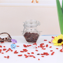 Manufacturer diamand shaped glass jam/ honey jar with clip lid